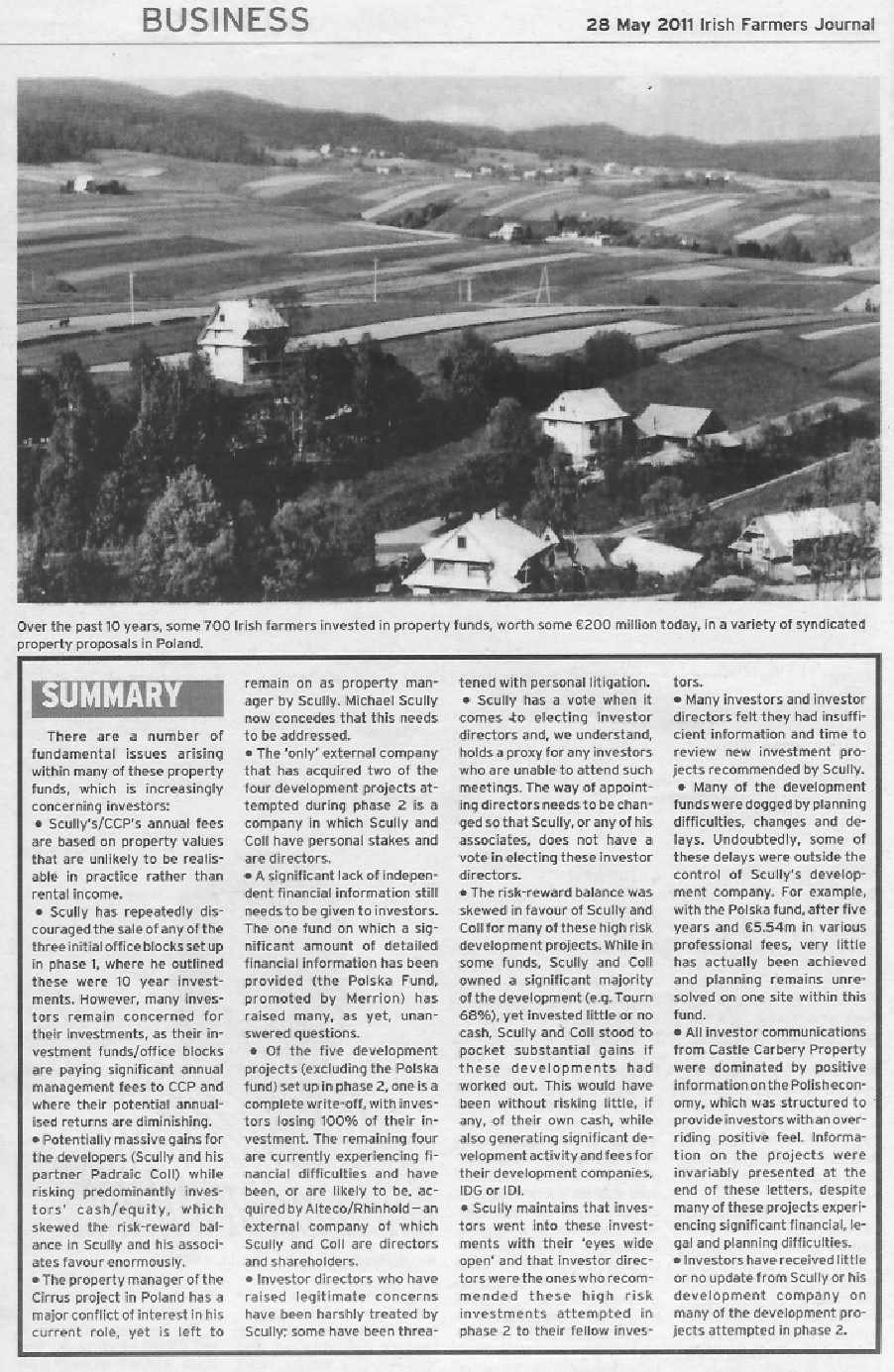 Castle Carbery - Irish Farmers Journal - May 28 2011