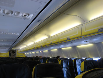 Empty Ryanair Flight