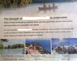 French Leaseback Investment Advert