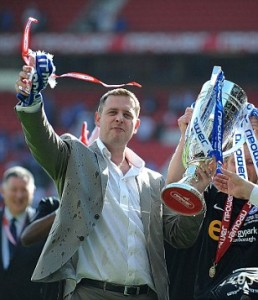 Darragh MacAnthony Celebrates Peterborough Promotion