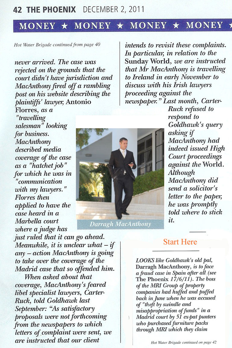 Darragh MacAnthony in the Phoenix Magazine