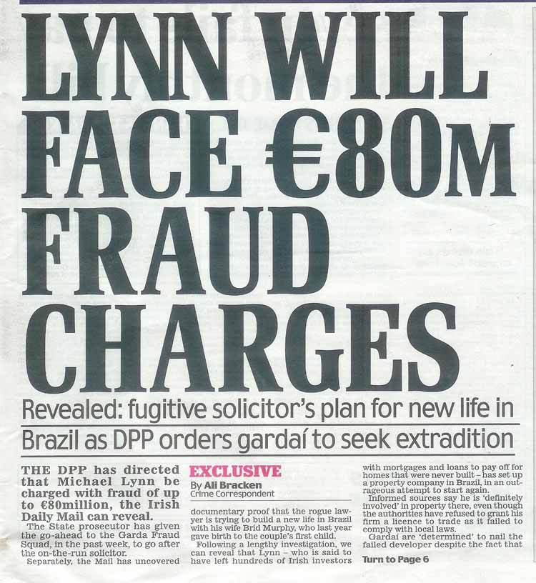 Gardaí to seek Extradition of Michael Lynn from Brazil