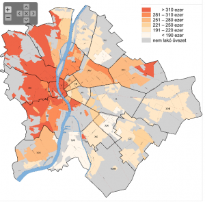 Budapest Property Area Values