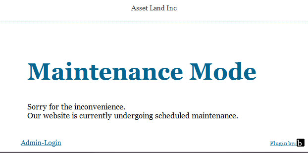 Asset Land Inc Website now Down