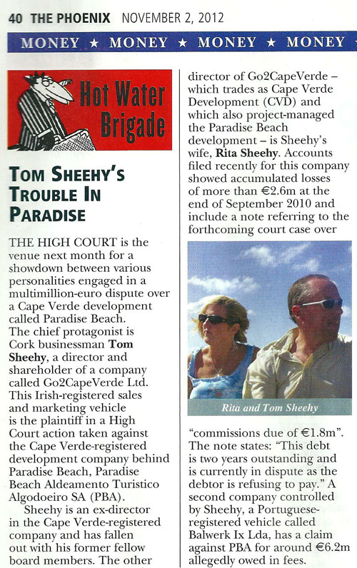 Tom Sheehy - Phoenix Magazine - Nov 2nd 2012