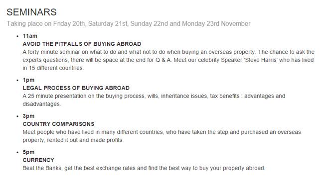 Overseas Property Show Seminars