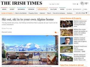 Irish Times Alpine Ski Property Feature