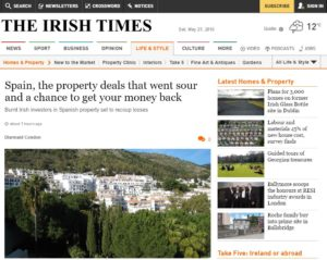 Irish Times Spanish Property Deposit Reclaim Article