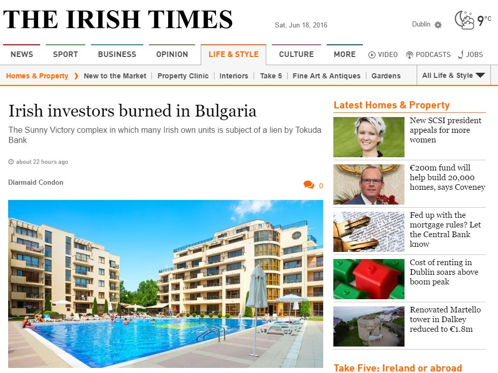Irish Times, Sunny Beach, Bulgaria, June 18th 2016