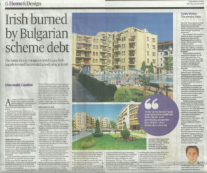 Sunny Victory, Bulgaria, Irish Times Feature
