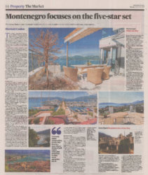 Montenegro Feature in Irish Times